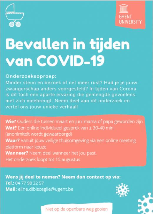 Bevallen in tijden van COVID-19